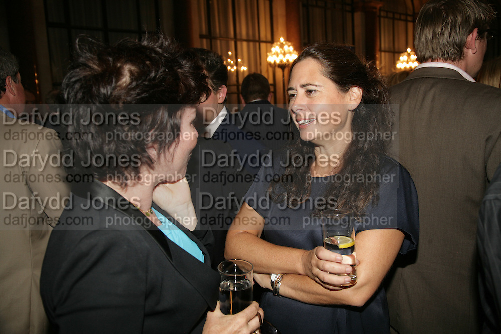 Ruby Wax and Alex Shulman, 10th Anniversary of Conde Nast Traveller magazine. Foreign and Comonwealth Office. Durbar Court. 10 September 2007. -DO NOT ARCHIVE-© Copyright Photograph by Dafydd Jones. 248 Clapham Rd. London SW9 0PZ. Tel 0207 820 0771. www.dafjones.com.