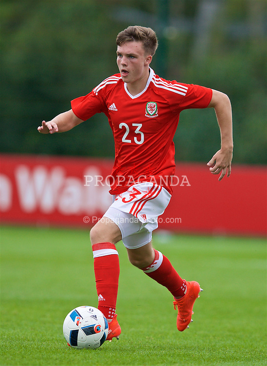 NEWPORT, WALES - Tuesday, September 6, 2016: Wales' Rhys Abbruzzese in action against Iceland during the International Friendly match at Dragon Park. (Pic by David Rawcliffe/Propaganda)