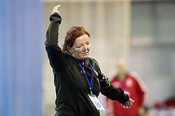 Marta Bon of Slovenia during handball match between Women National teams of Slovenia and Serbia in 2nd Round of Qualifications for 2014 EHF European Championship on October 27, 2013 in Hala Tivoli, Ljubljana, Slovenia. Slovenia defeated Serbia 31-26. (Photo by Vid Ponikvar / Sportida)