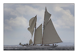 Altair 1931 Schooner loses her spinnaker in a squall...* The Fife Yachts are one of the world's most prestigious group of Classic  yachts and this will be the third private regatta following the success of the 98,  and 03 events.  ..Marc Turner / PFM Pictures