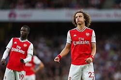 David Luiz of Arsenal sees a free kick saved - Mandatory by-line: Arron Gent/JMP - 22/09/2019 - FOOTBALL - Emirates Stadium - London, England - Arsenal v Aston Villa - Premier League