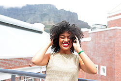 Thursday 6th October 2016.<br /> Olé Media, Longkloof Studios,<br /> Cape Town,<br /> Western Cape,<br /> South Africa.<br /> <br /> Local Radio DJ Carissa Cupido Makes Top 3 In TLC Next Presenter Search Competition.<br /> <br /> Local Good Hope FM Radio Presenter Carissa Cupido (24) has made it through as a finalist into the top 3 of the 'TLC Next Presenter' Search Competition. The television channel who hosted the search required participants to record their own live interview as part of the process. In her statement about herself Carissa says she has dreams and ambitions bigger than her hair and she chooses to live each day with gusto and hopes to inspire others to do the same. This image taken on Thursday 6th October 2016.<br /> <br /> Interview By: Chanice Jennike for SA Breaking News.    <br /> <br /> Picture By:  Mark Wessels / RealTime Images.