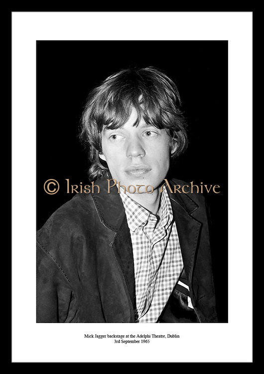 Mick Jagger backstage at the Adelphi Theatre, Dublin<br />