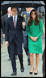 The Duke and Duchess of Cambridge  during a visit to the town of  Cambridge in New Zealand, Friday, 11th April 2014. Picture by Stephen Lock / i-Images