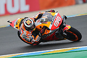#99 Jorge Lorenzo, Spanish: Repsol Honda Teamduring the MotoGP Grand Prix de France at the Bugatti Circuit at Le Mans, Le Mans, France on 18 May 2019.