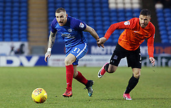 Marcus Maddison of Peterborough United gets away from Michael Kightly of Southend United - Mandatory by-line: Joe Dent/JMP - 03/02/2018 - FOOTBALL - ABAX Stadium - Peterborough, England - Peterborough United v Southend United - Sky Bet League One