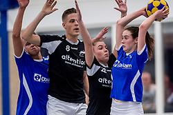 27-01-2018 NED: OVVO/De Kroon - Oost Arnhem, Maarssen<br /> De korfballers/sters uit Arnhem winnen met 24 - 22 / Nynke Lokhorst #22, Emiel Broenink #8