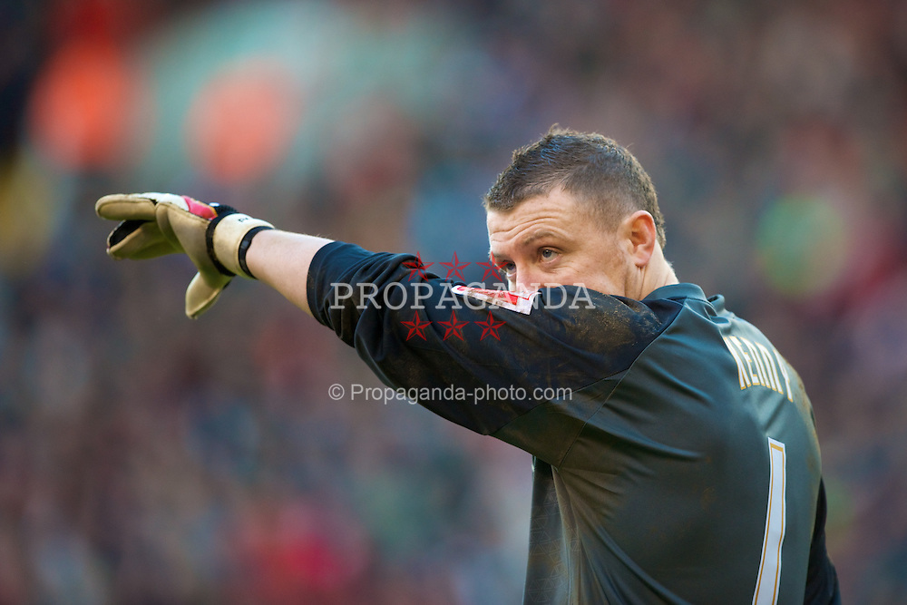 SHEFFIELD, ENGLAND - Saturday, March 1, 2008: Sheffield United's goalkeeper Paddy Kenny during the League Championship match against Charlton Athletic at Bramall Lane. (Photo by David Rawcliffe/Propaganda)