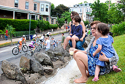 The infamous 17-percent steep 'Manayunk Wall' is a good place to see the race unfold. (Bas Slabbers /for NewsWorks)