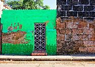 Green house in Cardenas, Matanzas, Cuba.