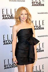 © Licensed to London News Pictures. 18/02/2014, UK. Kylie Minogue, ELLE Style Awards, One Embankment, London UK, 18 February 2014. Photo credit : Richard Goldschmidt/Piqtured/LNP