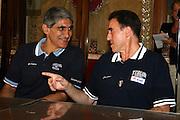 ROMA 29 AGOSTO 2007<br /> BASKET<br /> NAZIONALE ITALIANA UOMINI<br /> CONFERENZA STAMPA IN CAMPIDOGLIO DI PRESENTAZIONE DI ITALIA-GRECIA<br /> NELLA FOTO GIANNAKIS RECALCATI<br /> FOTO CIAMILLO-CASTORIA