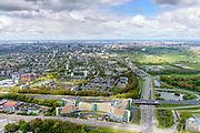 Nederland, Noord-Holland, Amstelveen, 28-04-2017; Langerhuize, hoofdkantoor KPMG, de internationale accountants- en adviesorganisatie. <br /> Head office KPMG.<br /> luchtfoto (toeslag op standaard tarieven);<br /> aerial photo (additional fee required);<br /> copyright foto/photo Siebe Swart
