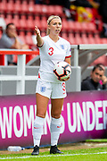 Olivia Smith (#3) of England during the UEFA Women's U19 European Championship match between England Women and Spain at Forthbank Stadium, Stirling, Scotland on 19 July 2019.