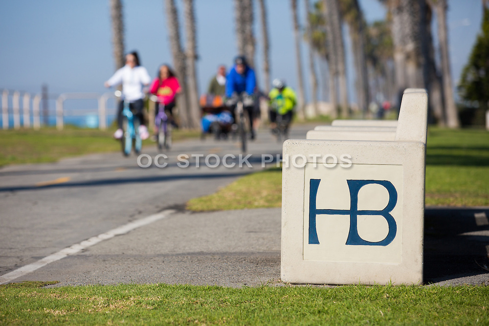 Locals Riding Bikes Along the Huntington Beach Bike Path