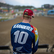 Calvin Vlaanderen before the first MX2 moto. He has a beautiful riding style.