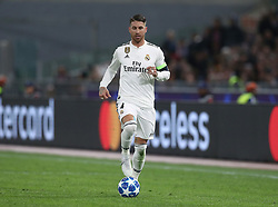 November 27, 2018 - Rome, Italy - AS Roma v FC Real Madrid : UEFA Champions League Group G.Sergio Ramos of Real Madrid at Olimpico Stadium in Rome, Italy on November 27, 2018. (Credit Image: © Matteo Ciambelli/NurPhoto via ZUMA Press)
