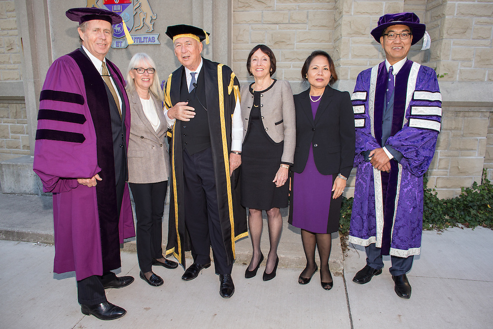 J. Robert S. Prichard is presented an Honorary Doctor of Laws at Western Convocation at Alumni Hall in London Ontario, Friday,  October 23, 2015.<br /> Western University/ Geoff Robins