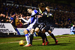 Liam Sercombe of Bristol Rovers is closed down by Ryan Delaney of Rochdale - Mandatory by-line: Dougie Allward/JMP - 13/02/2018 - FOOTBALL - Memorial Stadium - Bristol, England - Bristol Rovers v Rochdale - Sky Bet League One