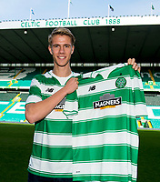 17/02/16     <br /> CELTIC PARK - GLASGOW<br /> Celtic unveil new signing Kristoffer Ajer