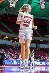 NORMAL, IL - November 20: Hannah Kelle during a college women's basketball game between the ISU Redbirds and the Huskies of Northern Illinois November 20 2019 at Redbird Arena in Normal, IL. (Photo by Alan Look)