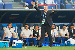 June 25, 2018 - Samara, Russia - Head Coach Stanislav Cherchesov of Russia reacts during the 2018 FIFA World Cup Russia group A match between Uruguay and Russia at Samara Arena on June 25, 2018 in Samara, Russia. (Credit Image: © Foto Olimpik/NurPhoto via ZUMA Press)