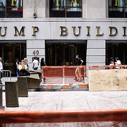 The Trump Building. Wandering  around the Financial District with the  Wall Street's Soundwalk (by John Solitto) on my ears. 2009, June 12th. Photo: Antoine Doyen