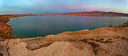 Sunset over the Virgin River arm of Lake Mead National Recreation Area, Nevada