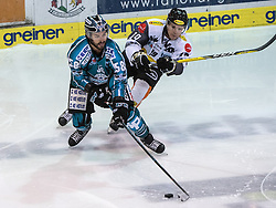 01.12.2016, Keine Sorgen Eisarena, Linz, AUT, EBEL, EHC Liwest Black Wings Linz vs Dornbirner Eishockey Club, 25. Runde, im Bild Sebastien Piche (EHC Liwest Black Wings Linz) und Dustin Sylvester (Dornbirner Eishockey Club) // during the Erste Bank Icehockey League 25th round match between EHC Liwest Black Wings Linz and Dornbirner Eishockey Club at the Keine Sorgen Icearena, Linz, Austria on 2016/12/01. EXPA Pictures © 2016, PhotoCredit: EXPA/ Reinhard Eisenbauer