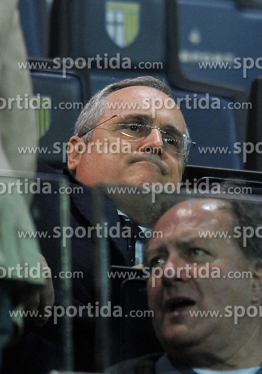 31.03.2012, Stadion Ennio Tardini, Parma, ITA, Serie A, FC Parma vs Lazio Rom, 31. Spieltag, im Bild Claudio LOTITO (Lazio) // during the football match of Italian 'Serie A' league, 31th round, between FC Parma and Lazio Roma, at Stadium Ennio Tardini, Parma, Italy on 2012/03/31. EXPA Pictures © 2012, PhotoCredit: EXPA/ Insidefoto/ Alessandro Sabattini..***** ATTENTION - for AUT, SLO, CRO, SRB, SUI and SWE only *****