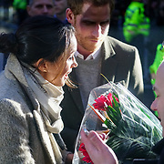 London, England, UK. 9th January 2018. Prince Harry and Meghan Markle visit Reprezent 107.3FM Radio station.
