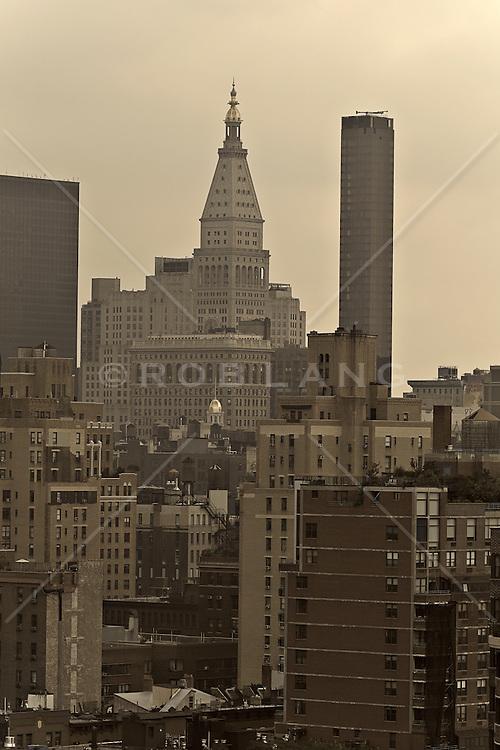 Looking east towards The Met Building in New York City