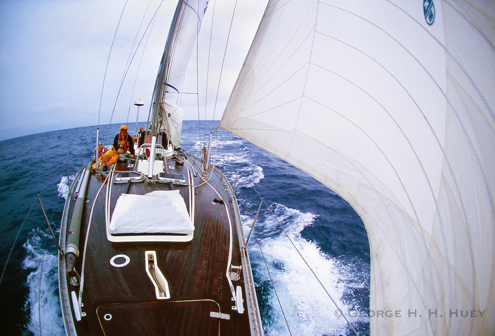 356400-1010 ~ Copyright: George H.H. Huey ~ Sailing in the Gulf Stream, in the North Atlantic, from Newport, Rhode Island to Bermuda.  Atlantic Ocean.