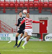 Hamilton's Mikael Antoine-Curier and Dundee's Thomas Konrad -  Hamilton Academical v Dundee, SPFL Premiership at New Douglas Park<br /> <br />  - &copy; David Young - www.davidyoungphoto.co.uk - email: davidyoungphoto@gmail.com
