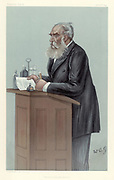 Medical Jurisprudence'. Thomas Stevenson, British forensic scientist.  Stevenson (1838-1908), a scientific analyst and toxicologist who acted as an expert witness, particularly in poisoning cases. Cartoon by 'Wag', pseudonym of AG Witherby (fl1894-1901) [Science and Society Picture Library] from 'Vanity Fair'. (London, 30 November 1899).  Chromolithograph.