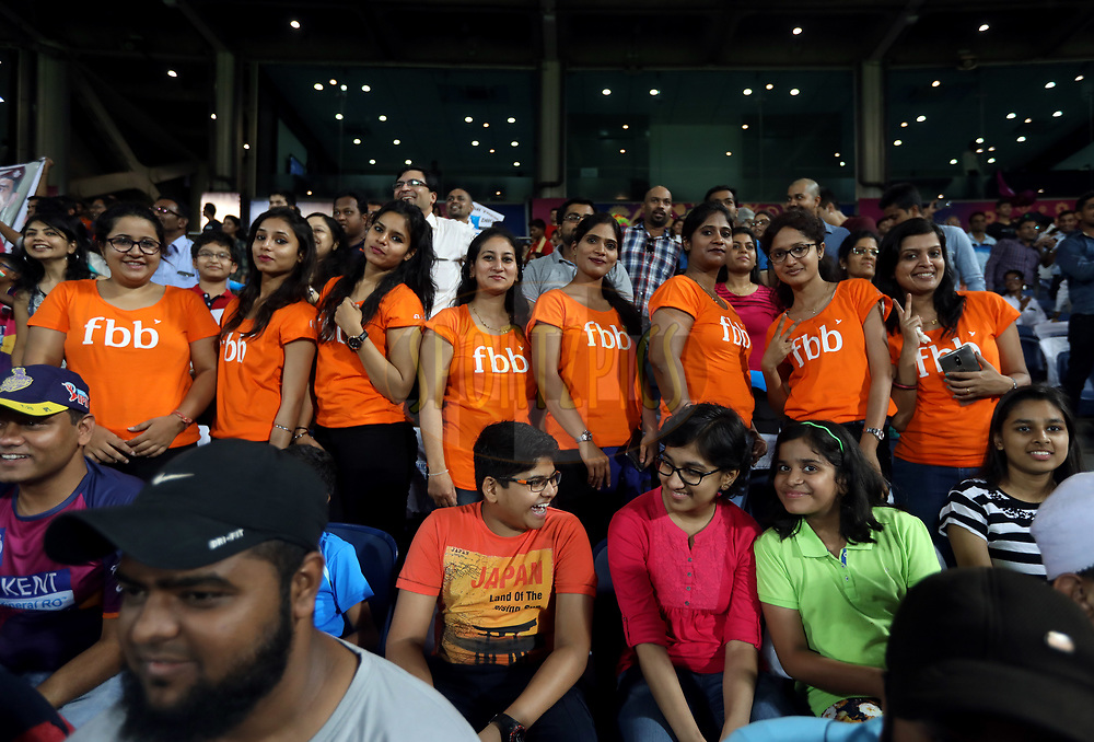 fbb Fan's during match 30 of the Vivo 2017 Indian Premier League between the Rising Pune Supergiants and the Kolkata Knight Riders  held at the MCA Pune International Cricket Stadium in Pune, India on the 26th April 2017<br /> <br /> Photo by Sandeep Shetty - Sportzpics - IPL