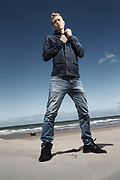 20150730 OOSTENDE Belgium KVO beach Ostend Michiel Jonckheere player at KVO poses for the photographer pict FRANK ABBELOOS