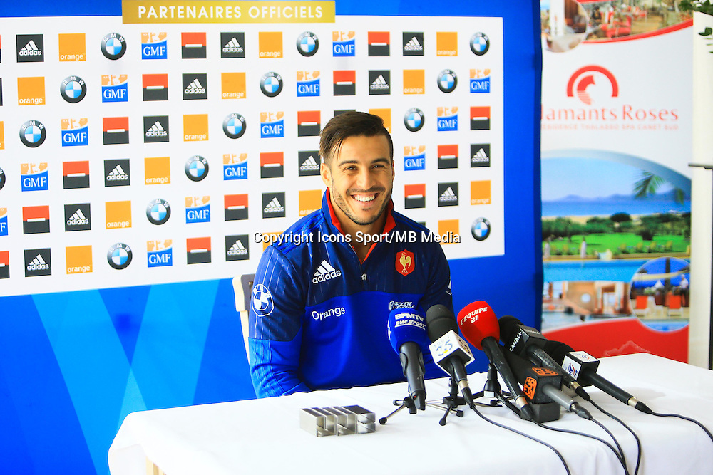Sofiane GUITOUNE - 27.01.2015 - Conference de Presse - XV de France - Canet en Roussillon -<br />