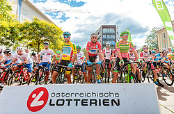 03.07.2017, Wien, AUT, Ö-Tour, Österreich Radrundfahrt 2017, 1. Etappe von Graz nach Wien (193,9 km), im Bild Oscar Gatto (ITA, Astana Pro Team), Markus Eibegger (AUT, Team Felbermayr Simplon Wels), William Clarke (AUS, Cannondale Drapac Professional Cycling Team) // during the 1st stage from Graz to Vienna (193,9 km) of 2017 Tour of Austria. Wien, Austria on 2017/07/03. EXPA Pictures © 2017, PhotoCredit: EXPA/ JFK