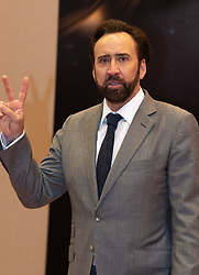 December 8, 2018 - Macao, China - NICOLAS CAGE meets the press at the International Film Festival and Awards Macao 2018. Mr Cage has his film 'Mandy' being shown at the festival and is here as the Western talent ambassador for the festival along with Chinese talent ambassador A. Kwok. (Credit Image: © Jayne Russell/ZUMA Wire)