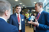 Graz, Austria - 2017 March 18: (L-R) Krzysztof Krukowski (Director Organizational Development Europe Eurasia Region Special Olympics) and Timothy Perry Shriver (Chairman of Special Olympics) and Witold Banka (Polish Sports Minister) talk during Global Forum on Inclusion in Social Affairs and Sports while Special Olympics World Winter Games Austria 2017 at Convention Centre Messe Graz on March 18, 2017 in Graz, Austria.<br /> <br /> Mandatory credit:<br /> Photo by © Adam Nurkiewicz / Mediasport<br /> <br /> Adam Nurkiewicz declares that he has no rights to the image of people at the photographs of his authorship.<br /> <br /> Picture also available in RAW (NEF) or TIFF format on special request.<br /> <br /> Any editorial, commercial or promotional use requires written permission from the author of image.<br /> <br /> Image can be used in the press when the method of use and the signature does not hurt people on the picture.