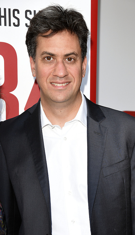 Ed Milliband attends 1984 Play press night at The Playhouse, Norththumberland Avenue, London on Thursday 18 June 2015
