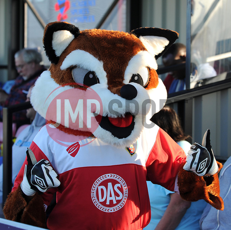 Thumbs-up from Vicki the Vixen - Mandatory by-line: Paul Knight/JMP - Mobile: 07966 386802 - 27/08/2015 -  FOOTBALL - Stoke Gifford Stadium - Bristol, England -  Bristol Academy Women v Oxford United Women - FA WSL Continental Tyres Cup
