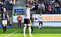 Fotball Menn Eliteserien Rosenborg-Strømsgodset<br /> Lerkendal Stadion, Trondheim<br /> 22 april 2019<br /> <br /> Rosenborgs Nicklas Bendtner er oppgitt<br /> <br /> <br /> Foto : Arve Johnsen, Digitalsport