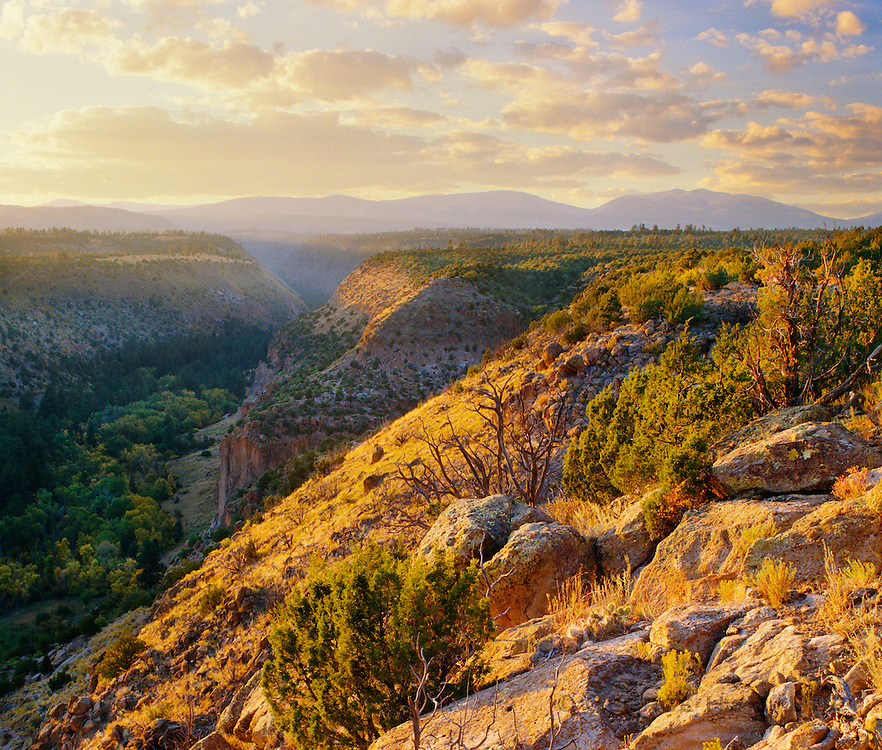 0202-1072 ~ Copyright:  George H. H. Huey ~ Frijoles Canyon.  Bandelier National Monument, New Mexico.
