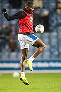 Queens Park Rangers midfielder Bright Osayi-Samuel (20) warms up prior to the EFL Sky Bet Championship match between Queens Park Rangers and Rotherham United at the Loftus Road Stadium, London, England on 13 March 2019.
