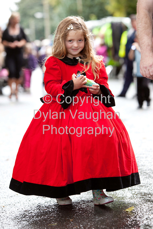 15/8/2009.Christine Connors aged 4 from Bunclody pictured at the annual Borris Horse Fair in County Carlow on Saturday..Picture Dylan Vaughan.