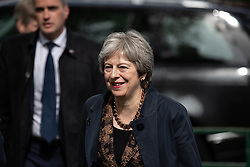 © Licensed to London News Pictures . 30/04/2018. Manchester , UK. British Prime Minister THERESA MAY arrives for a visit at Brooklands Primary School in Sale . May is facing questions over her role in the scandal of the way Windrush migrants have been treated and after the resignation of Home Secretary, Amber Rudd, late last night (29 April 2018) . Photo credit : Joel Goodman/LNP