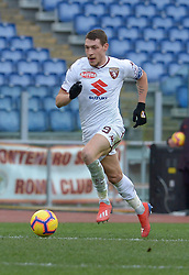 January 19, 2019 - Rome, Italy - Andrea Belotti during the Italian Serie A football match between A.S. Roma and F.C. Torino at the Olympic Stadium in Rome, on january 19, 2019. (Credit Image: © Silvia Lore/NurPhoto via ZUMA Press)