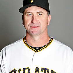 February 17, 2013; Bradenton, FL, USA;  Pittsburgh Pirates coach Jeff Branson (87) poses for photo day at Pirate City.  Mandatory Credit: Derick E. Hingle-USA TODAY Sports